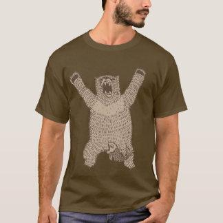 Grrr Roaring Bear Accident Dark Shirt
