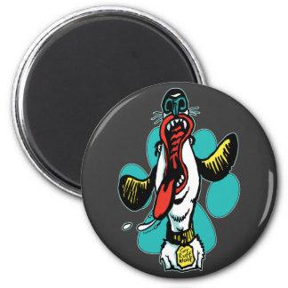 Grrr Ruff Woof Dog 2 Inch Round Magnet