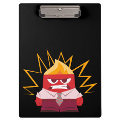 Clipboard with Anger from Pixar's Inside Out design