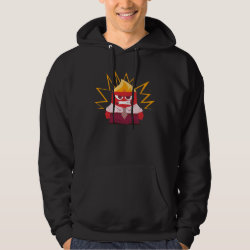 Men's Basic Hooded Sweatshirt with Anger from Pixar's Inside Out design