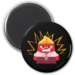 Round Magnet with Anger from Pixar's Inside Out design