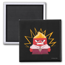 Square Magnet with Anger from Pixar's Inside Out design