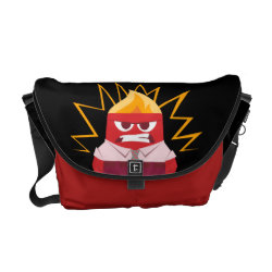 Rickshaw Medium Zero Messenger Bag with Anger from Pixar's Inside Out design