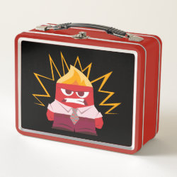 Metal Lunch Box with Anger from Pixar's Inside Out design