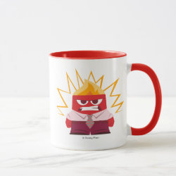 Combo Mug with Anger from Pixar's Inside Out design