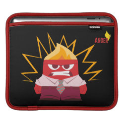 iPad Sleeve with Anger from Pixar's Inside Out design