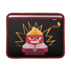 Macbook Air Sleeve with Anger from Pixar's Inside Out design