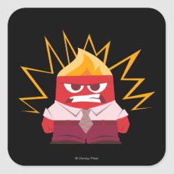 Square Sticker with Anger from Pixar's Inside Out design