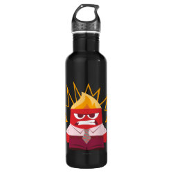 Water Bottle (24 oz) with Anger from Pixar's Inside Out design