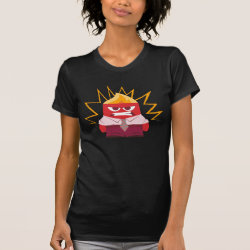 Women's American Apparel Fine Jersey Short Sleeve T-Shirt with Anger from Pixar's Inside Out design