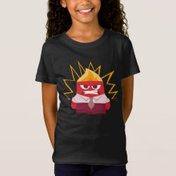 Girls' Fine Jersey T-Shirt with Anger from Pixar's Inside Out design