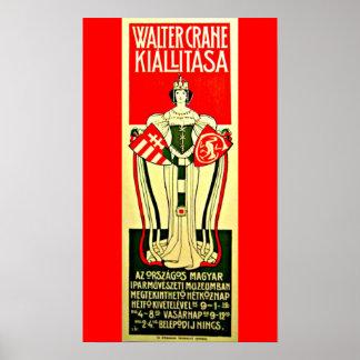 Grúa 7 de Ejemplo-Gualterio del Poster-Vintage Póster