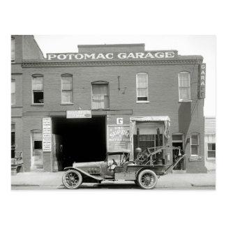 Grúa antigua, los años 20 postal