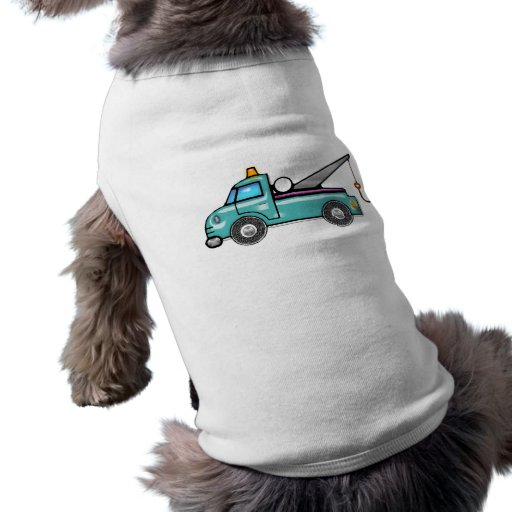 Grúa azul dura ropa para mascota