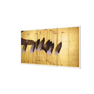 Grúa, bella arte de Ogata Kōrin Impresiones En Lienzo Estiradas