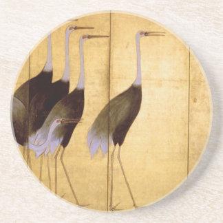 Grúa bella arte de Ogata Kōrin Posavasos Manualidades