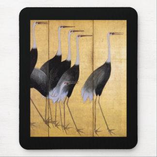 Grúa, bella arte del japonés de Ogata Kōrin Alfombrillas De Raton