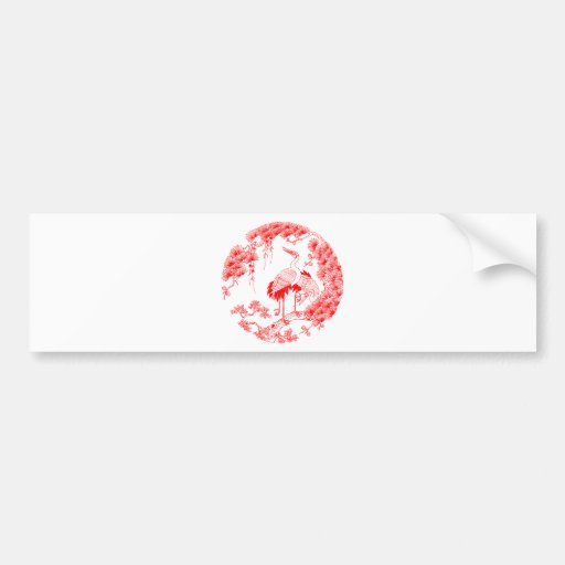 Grúa china etiqueta de parachoque