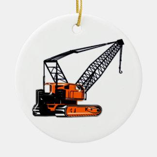 Grúa de construcción anaranjada adorno