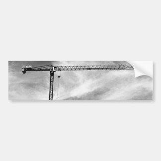 Grúa de construcción etiqueta de parachoque