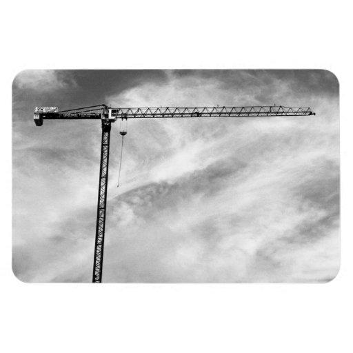 Grúa de construcción rectangle magnet