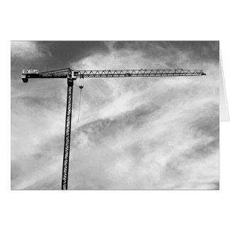 Grúa de construcción tarjeta de felicitación