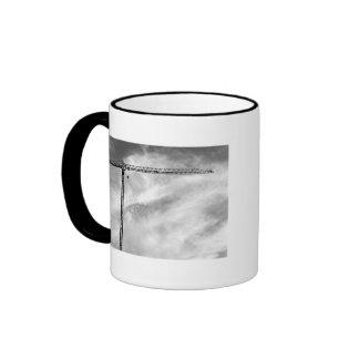 Grúa de construcción taza de café