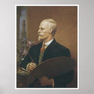 Grúa de Gualterio, autorretrato, 1912 Póster