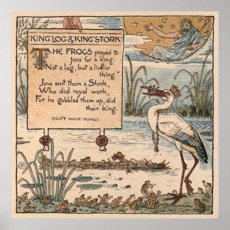 Grúa de Gualterio del vintage: Registro del rey y  Póster