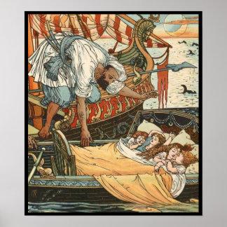 Grúa de Gualterio - poster de princesa Belleza-Eto