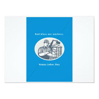 """Grúa de Houseframe del constructor de la tarjeta Invitación 6.5"""" X 8.75"""""""