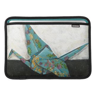 Grúa de Origami con diseños florales Fundas Para Macbook Air