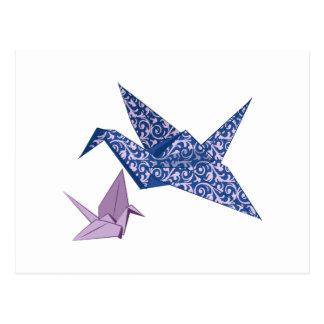 Grúa de Origami Postales