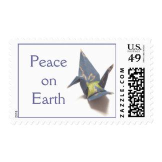 Grúa de papel sello postal