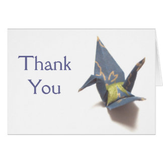 Grúa de papel tarjeta de felicitación