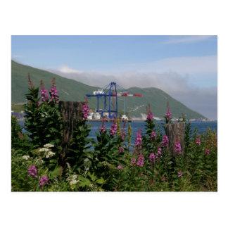 Grúa del APL en el puerto holandés, Alaska Tarjetas Postales