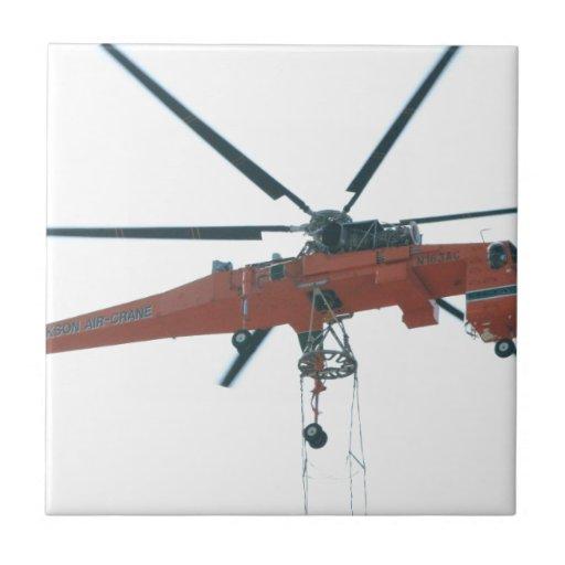 Grúa del helicóptero teja  ceramica