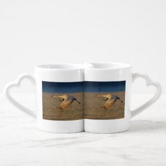 grúa del sandhill tazas para parejas