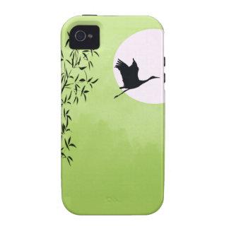 Grúa del vuelo - verde iPhone 4 carcasa