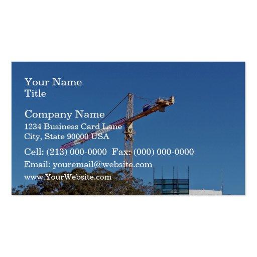 Grúa en la construcción tarjetas de visita