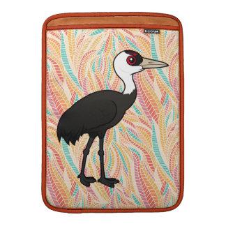 Grúa encapuchada de Birdorable Funda Macbook Air