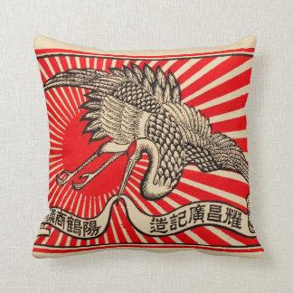 Grúa japonesa cojín decorativo