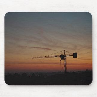 Grúa Mousepad de la puesta del sol