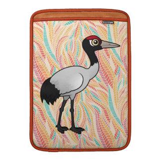 Grúa Negro-necked de Birdorable Fundas Macbook Air