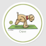 Grúa - pegatinas de la yoga