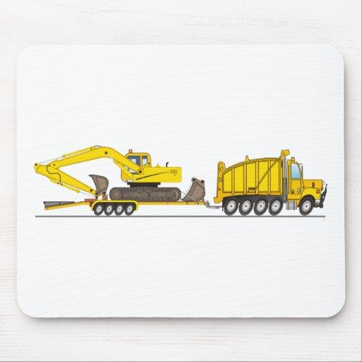 Grúa resistente del camión volquete tapete de ratón