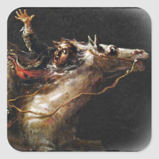 Grúa soñolienta de Ichabod de los huecos Pegatina Cuadrada