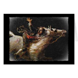 Grúa soñolienta de Ichabod de los huecos Tarjeta De Felicitación