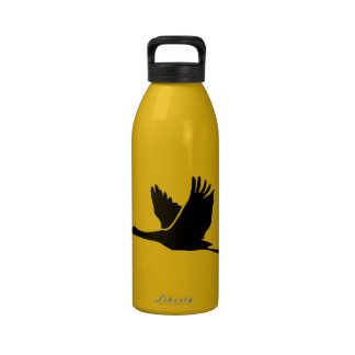 Grúa Vuelo del pájaro amarillo Botella De Agua