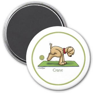 Grúa - yoga imán para frigorifico